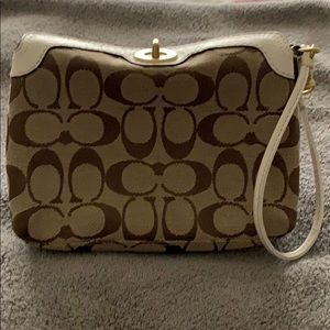 Coach Signature Large Wristlet.